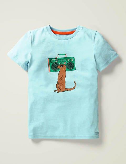 T-Shirt mit Tierzeichnung