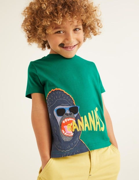 Hungry Animal Appliqué T-Shirt - Alpine Green Gorilla