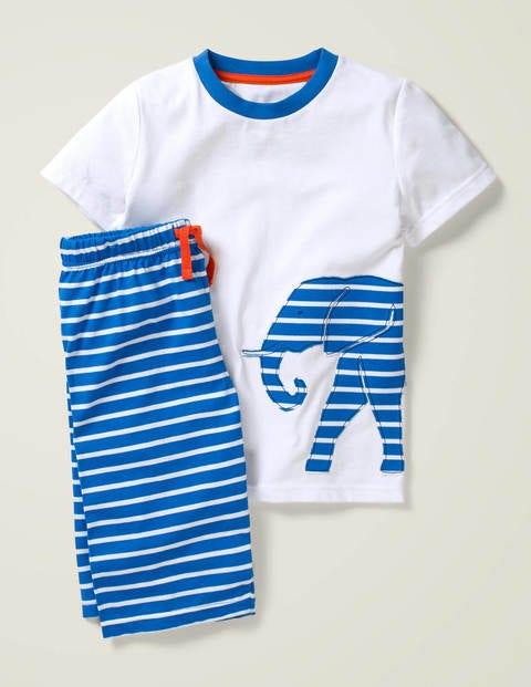 Printed Appliqué Pyjama Set - White Elephant
