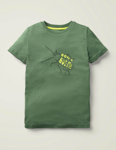 Animal Printed T-Shirt - Rosemary Green Bug
