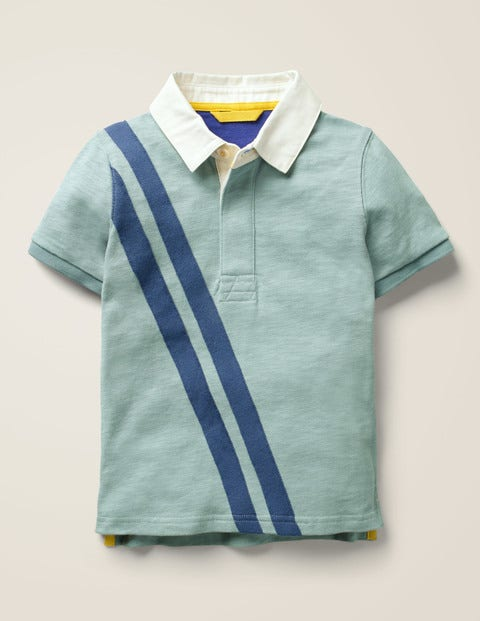 Heritage Polo Shirt - Dolphin Blue Star