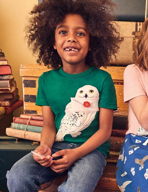 Hedwig Appliqué T-shirt - Mountain Green
