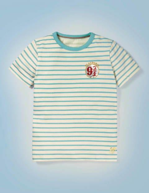 Hogwarts Breton T-shirt - Mineral Green/Ivory 9 ¾
