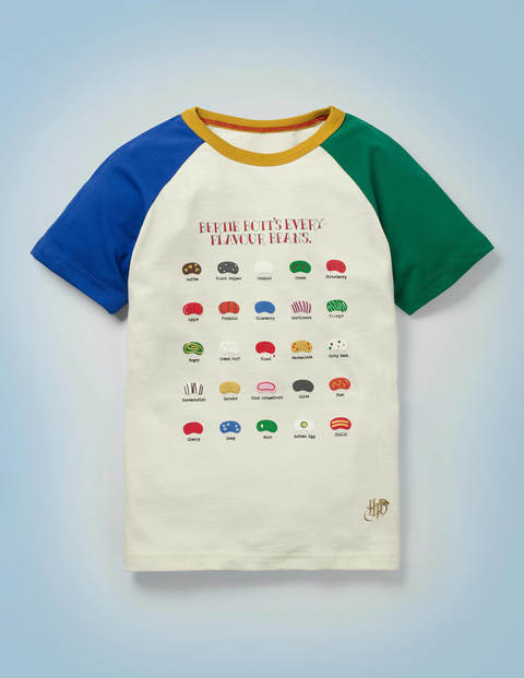 T-Shirt mit Bertie-Botts-Motiv - Naturweiß, Mustermix