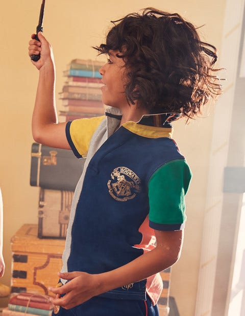 Hogwarts Heritage Rugby Shirt - Mid Grey Marl Hotchpotch