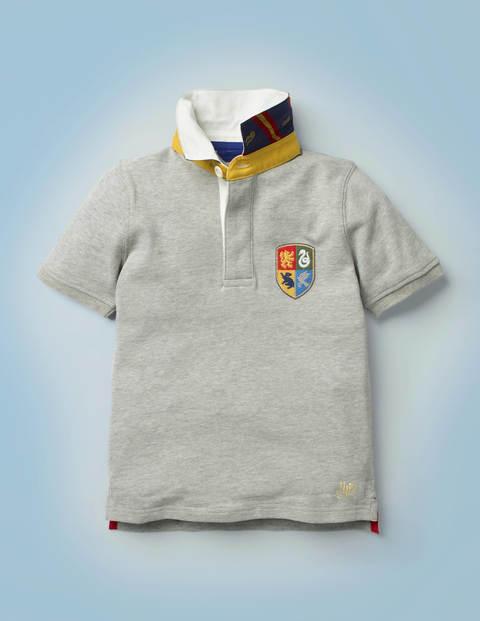 Hogwarts Heritage Rugby Shirt - Grey Marl