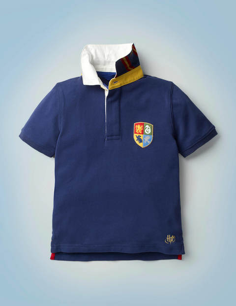 Hogwarts Heritage Rugby Shirt - College Blue