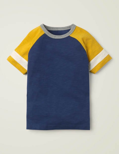 Stripe Raglan T-shirt - College Navy