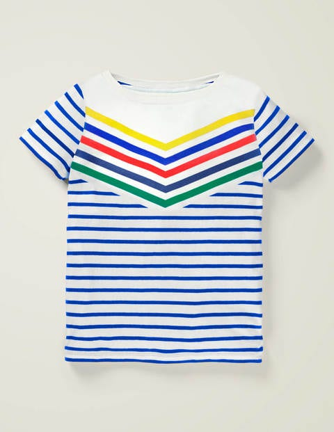 Sporty Chevron Stripe T-shirt - Brilliant Blue Multi