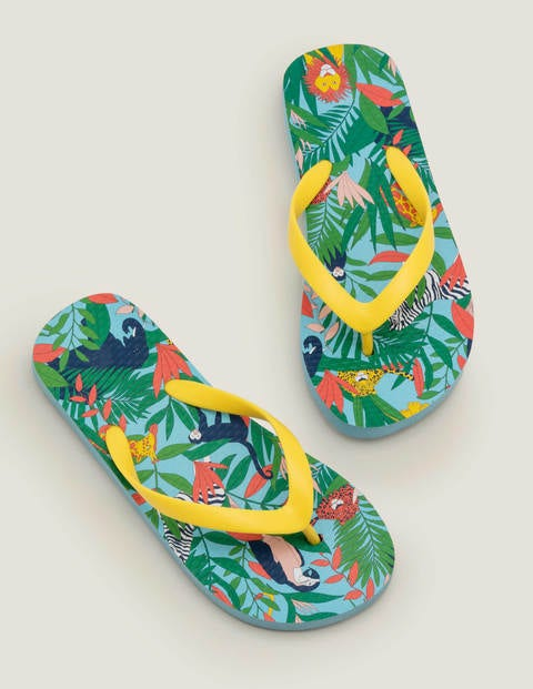 Printed Flip Flops - Mini Jungle