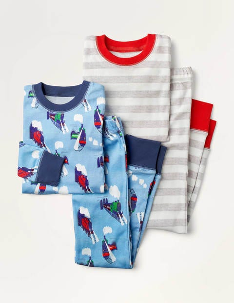 Cosy Twin Pack Long Pyjamas