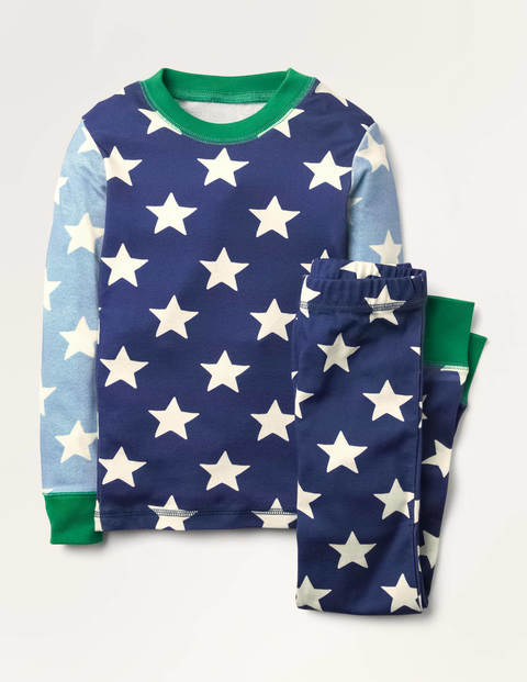 Glow-in-the-Dark Long Pyjamas - Starboard Blue Star Hotchpotch