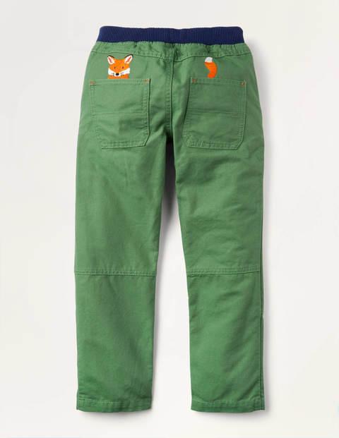 Rib Waist Appliqué Pants