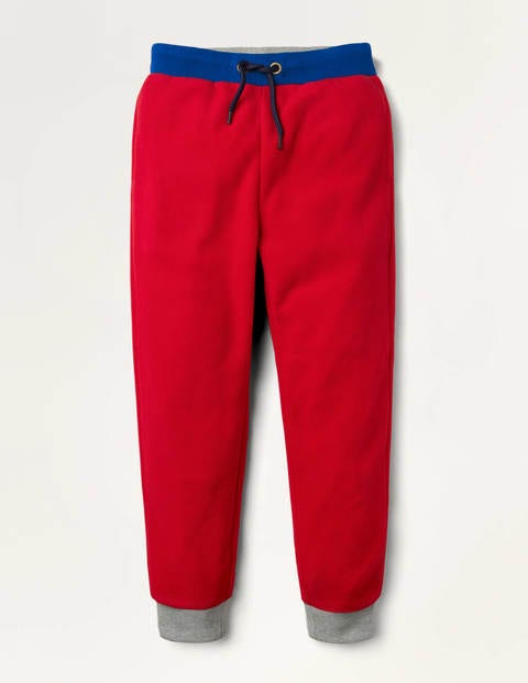 Mikrofleece-Jogginghose - Rockabilly-Rot