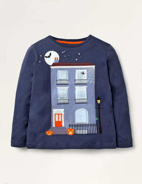 Lift-the-flap Spooky T-shirt - College Navy House