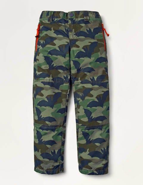 Cosy Lined Skate Pants - Khaki Green Batouflage