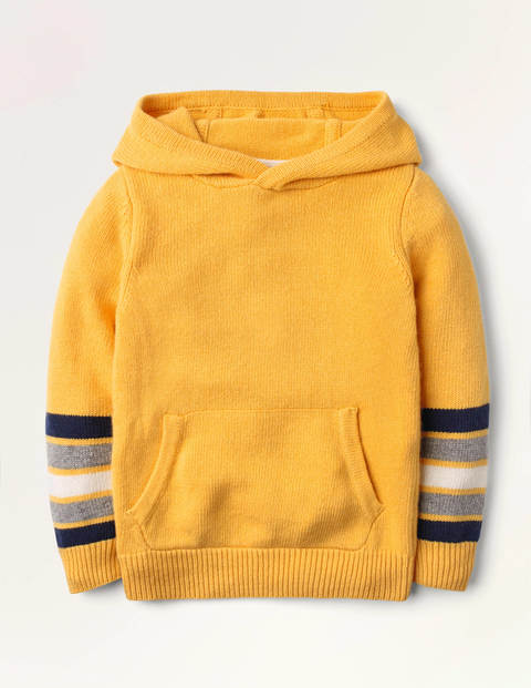 Knitted Stripe Hoodie - Honeycomb Yellow