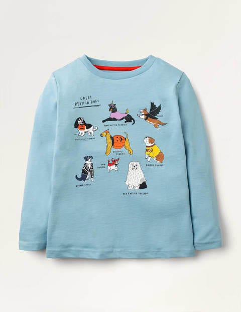 Animal Names T-shirt - Frost Blue Dogs