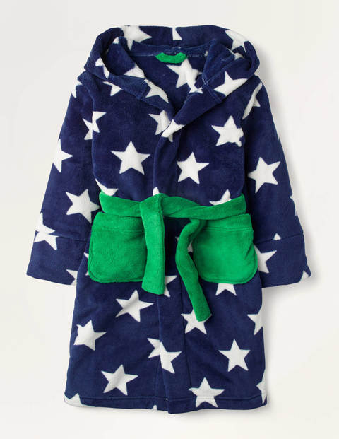 Cosy Dressing Gown - College Navy Star
