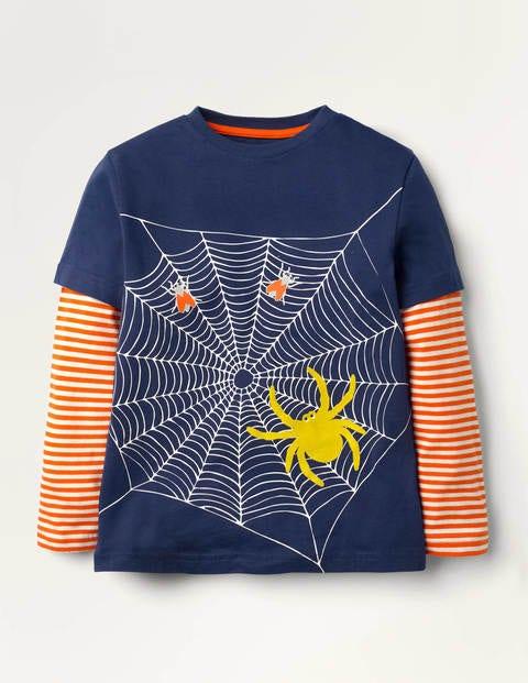 Oberteil mit leuchtender Spinne