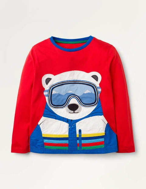 Polar Animal Appliqué T-shirt