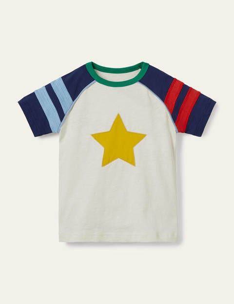Stripe Raglan T-shirt - Ivory Star