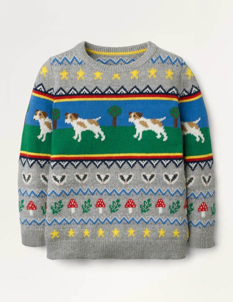 Sprout Fair Isle Crew Sweater