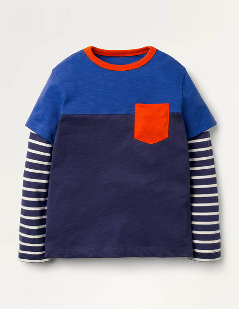Colourblock Layered T-shirt