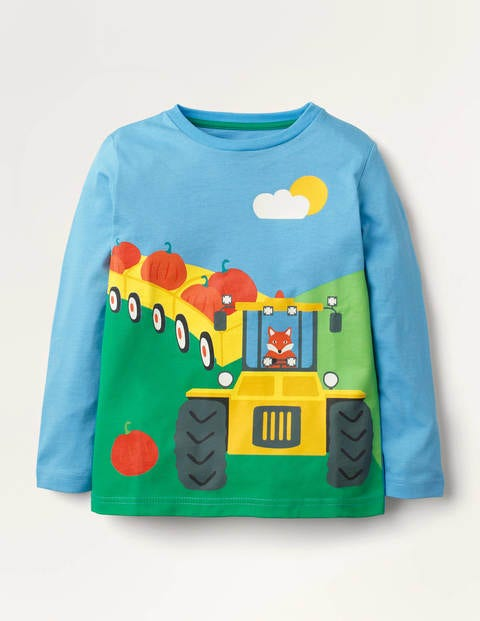 Pumpkin Picking T-shirt - Surfboard Blue Pumpkin
