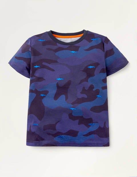 Besticktes T-Shirt mit Muster