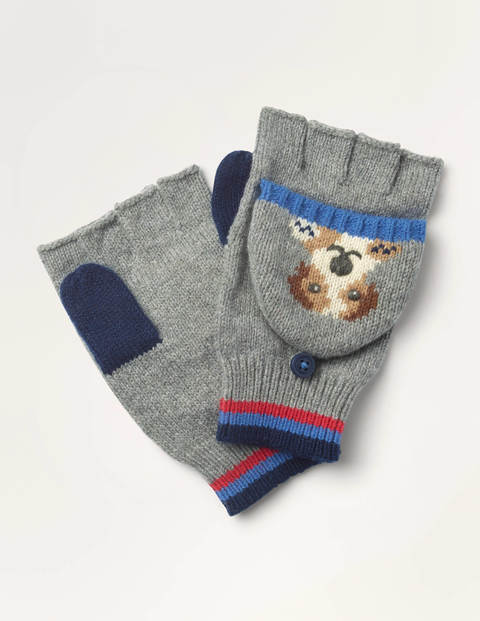 Fun Dog Mittens - Grey Marl