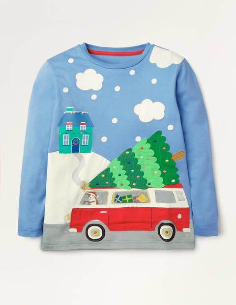 T-Shirt mit weihnachtlichem Motiv
