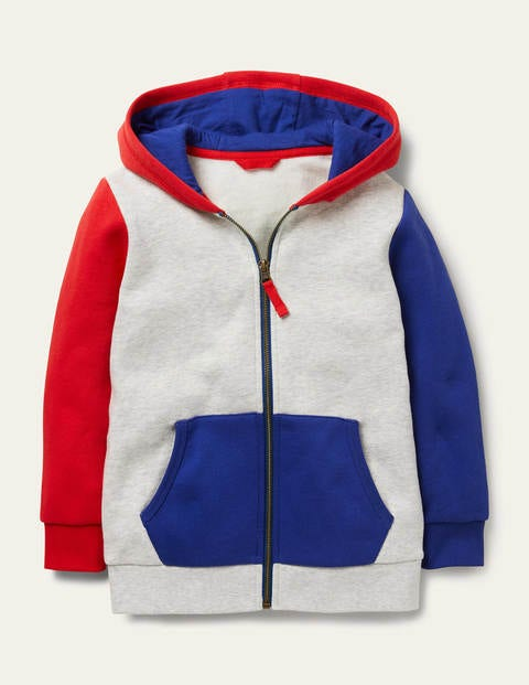 Zip-up Colourblock Hoodie