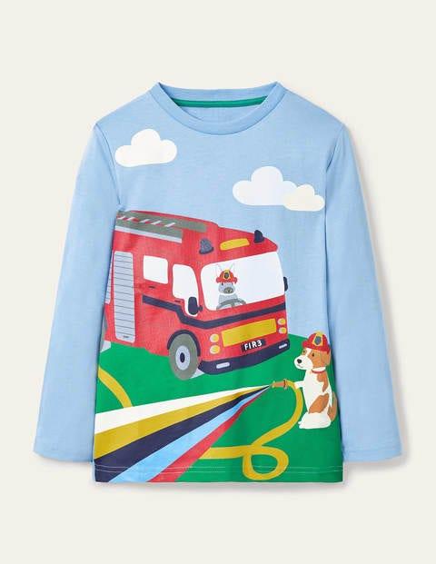 Vehicle Scene T-shirt - Surfboard Blue