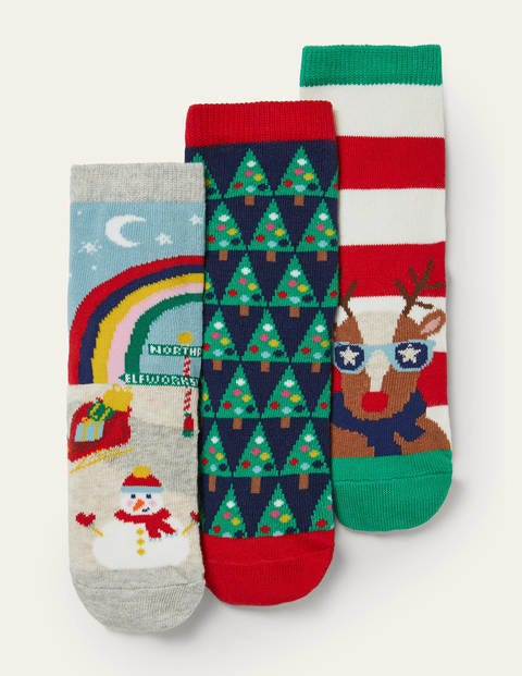 Christmas Socks 3 Pack - Mutli