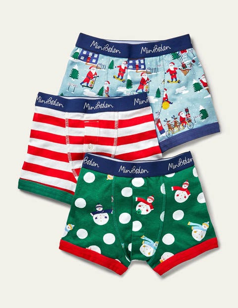 Christmas Boxers 3 Pack - Festive Multi