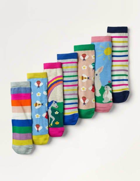 7 Pack Sock Box - Rainbow Scenes