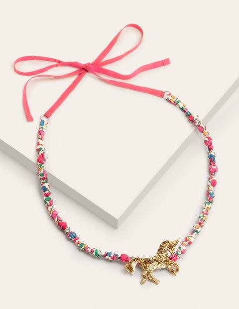 Fabric Necklace - Sequin Unicorn