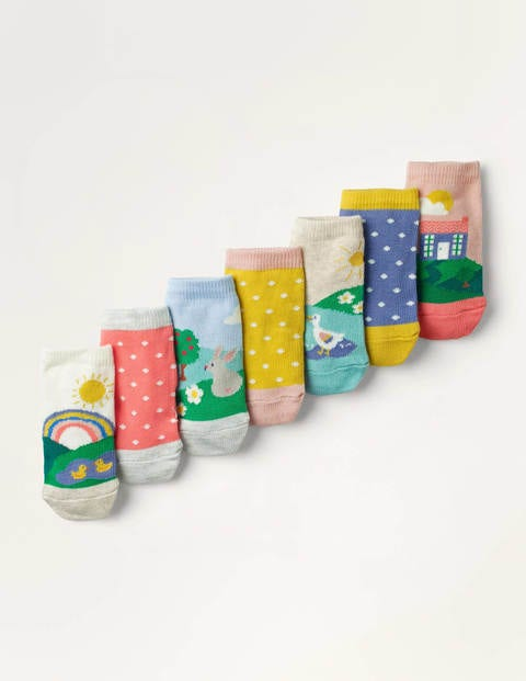 7 Pack Sock Box - Multi Scenes