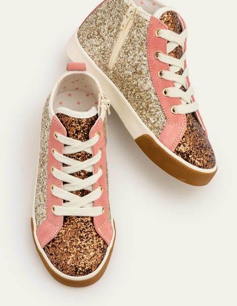 Hochgeschnittene Schuhe - Goldglitzer