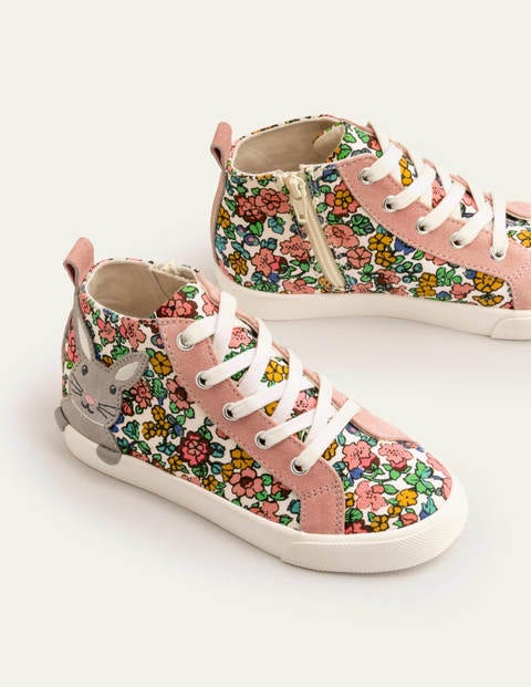 High Tops - Vintage Floral Bunnies