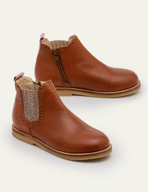 Leather Chelsea Boots - Tan Brown