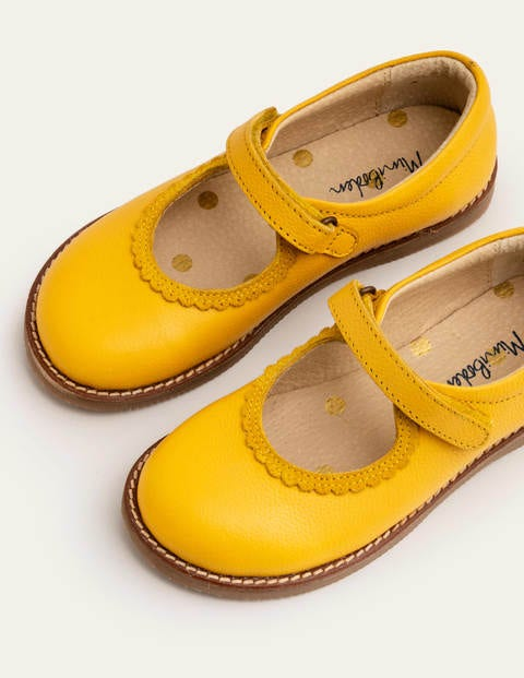 Leather Mary Janes - Honeycomb Yellow