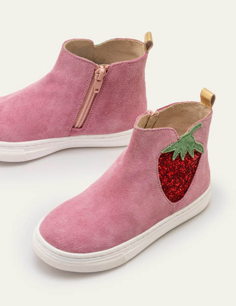 Suede Novelty Boots - Formica Pink