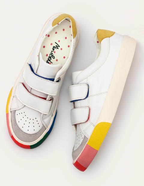 Niedrige Sneaker mit Regenbogenmuster - Weiß/Regenbogen