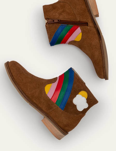 Stiefel mit Regenbogenszene