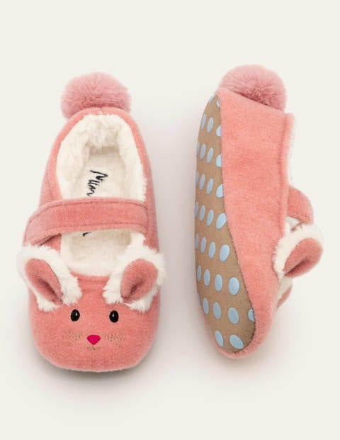 Felt Mary Jane Slippers - Boto Pink