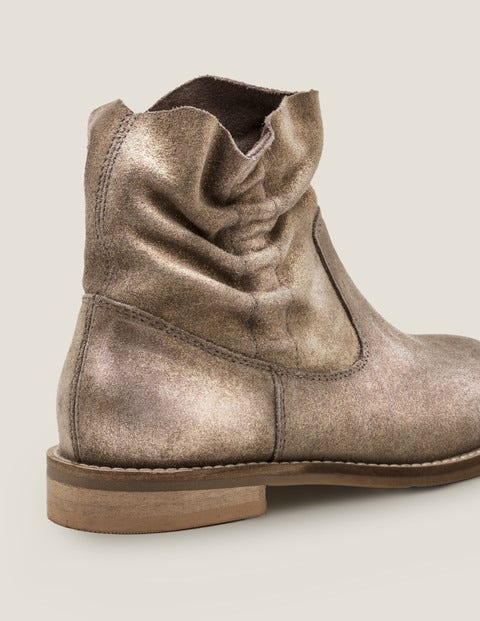 Suede Slouchy Boots - Camel sparkle