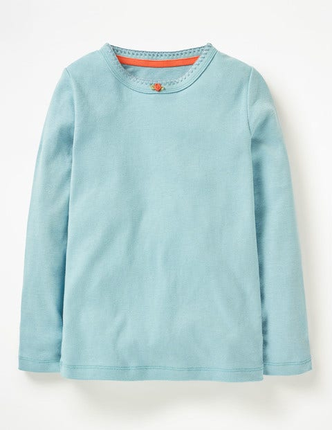 Long-sleeved Rosebud T-shirt - Ice Blue