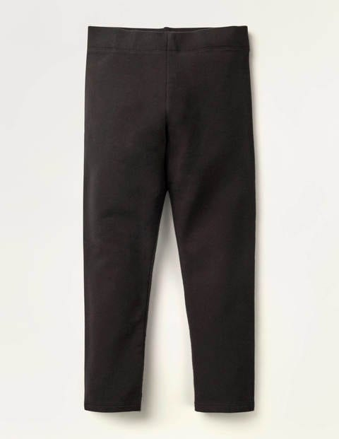 Plain Cosy Leggings - Black